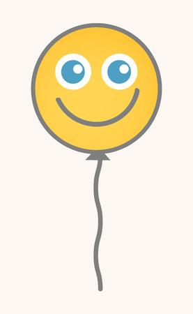 carita feliz caricatura: Globo - Cara de dibujos animados sonriente del vector