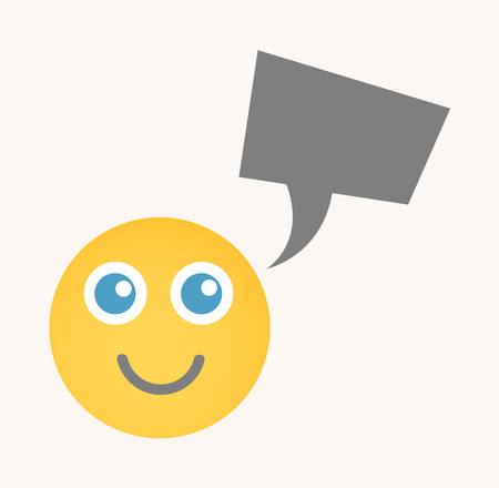 cuteness: Cute Chat - Cartoon Smiley Vector Face