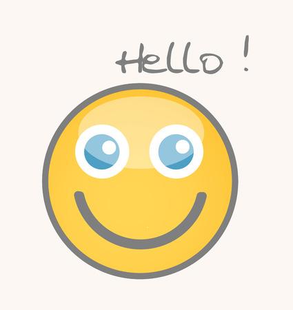 curious: Curious - Cartoon Smiley Vector Face Illustration