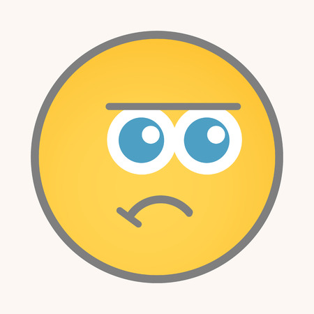 dejection: Dejection - Cartoon Smiley Vector Face Illustration