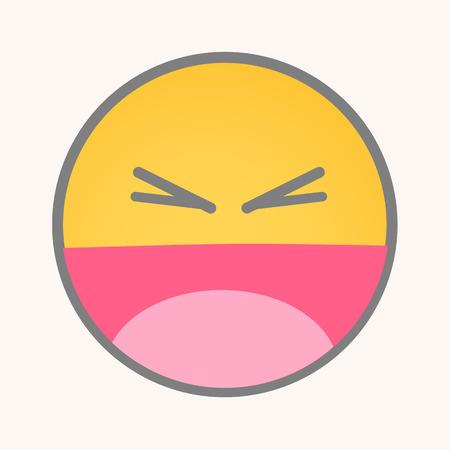 betrayal: Betrayal - Cartoon Smiley Vector Face