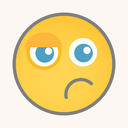 displeasure: Sad - Cartoon Smiley Vector Face