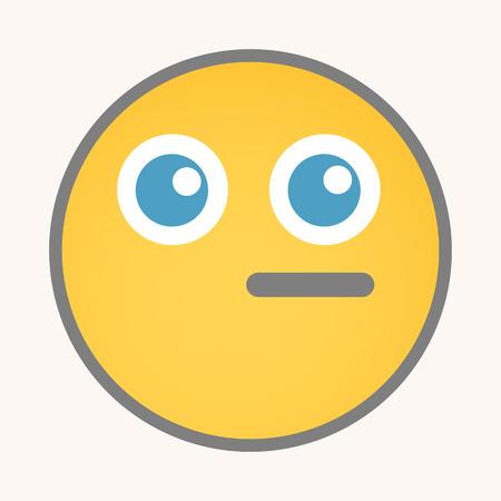 dumb: Dumb - Cartoon Smiley Vector Face