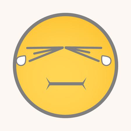 displeasure: Weeping - Cartoon Smiley Vector Face