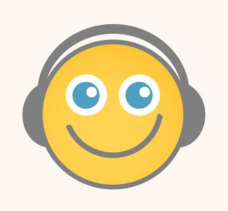 lachendes gesicht: Entertainment - Cartoon Smiley-Gesicht Vektor