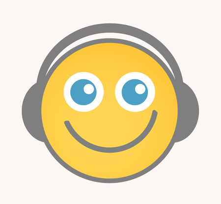 smiley icon: Entertainment - Cartoon Smiley Vector Face
