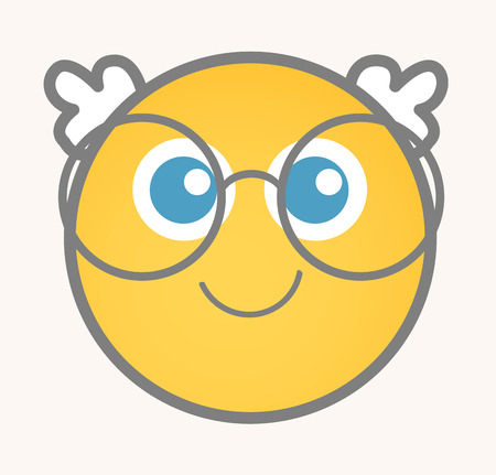 cuteness: Cuteness - Cartoon Smiley Vector Face