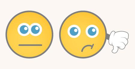 calm down: Unhappy Smiley Vector Set