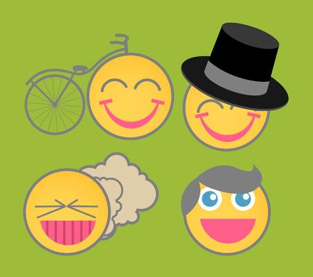 fart: Cartoon Emoticons Vector Illustration