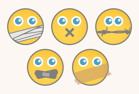 Mute - Cartoon Smiley Set