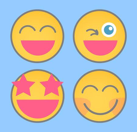 Very Happy Smiley Set