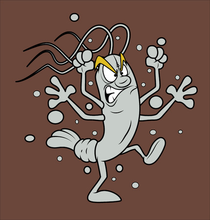 irritation: Angry Cartoon Shrimp