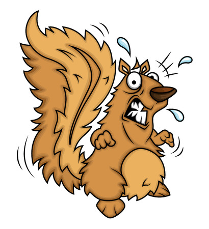 fearful: Fearful Squirrel Illustration