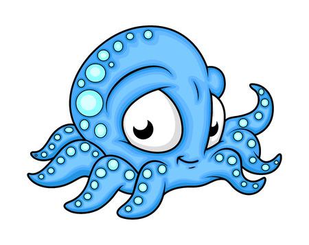 cephalopod: Cute Happy Octopus Cartoon Character