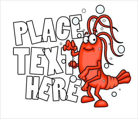 advertisement: Cartoon Crayfish - Advertisement Banner