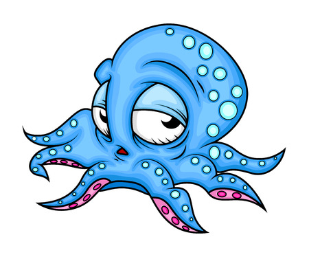 Lazy Cartoon Octopus