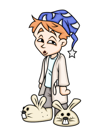 Sleeping Time - Cartoon Boy Character