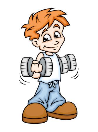 exercise cartoon: Exercise - Cartoon Boy