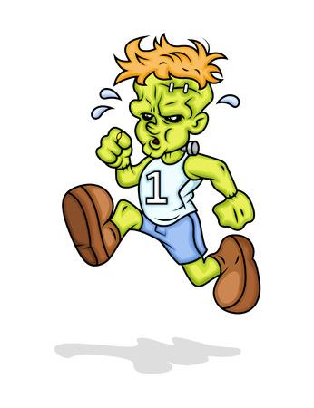 sport man: Sportsman Frankenstein Running