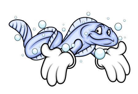 eel: Cartoon Eel Fish Showing Hands
