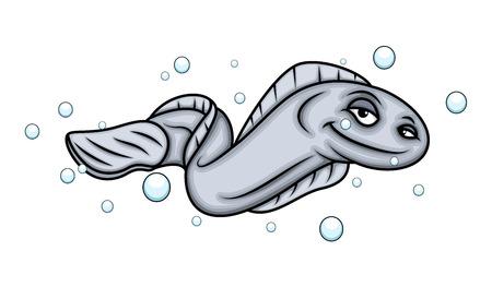eel: Smiling Eel Fish Illustration