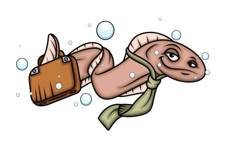 eel: Cartoon Business Eel Fish