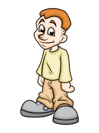 innocent: Innocent Cartoon Boy