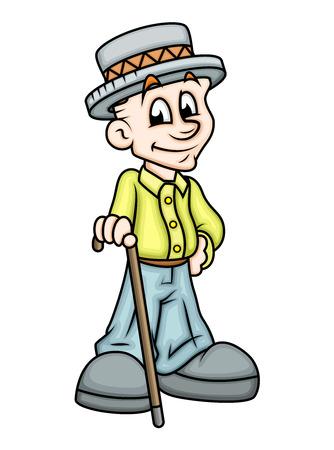 naughty boy: Cartoon Gentleman Character