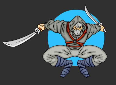 samourai: Samurai vecteur de bande dessin�e Illustration
