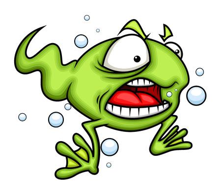 angry cartoon: Angry Cartoon Frog