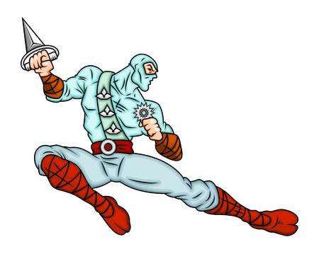 japanese ninja: Cartoon Japanese Ninja Vector Illustration Illustration