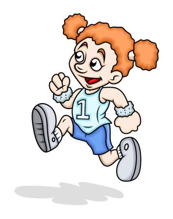 naughty girl: Happy Sports Girl Running