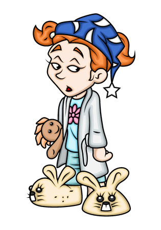 awake: Sleepy Cartoon Girl Character