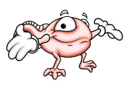 tadpole: Cartoon Tadpole Presenting
