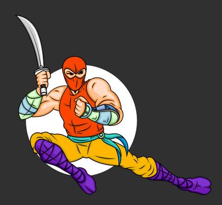 japanese ninja: Japanese Ninja Character Illustration