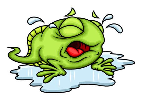 tadpole: Cartoon Frog Crying