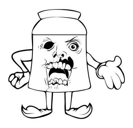 horrible: Horrible - Cartoon Paper Packet Vector Clipart