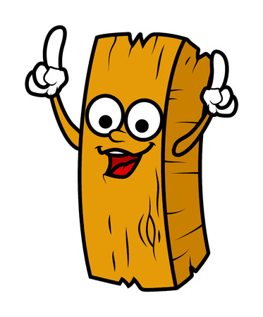 wood log: Dancing Cartoon Wood Log Character