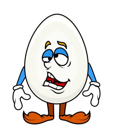 Fatigué Caractère Egg Cartoon Banque d'images - 41937959