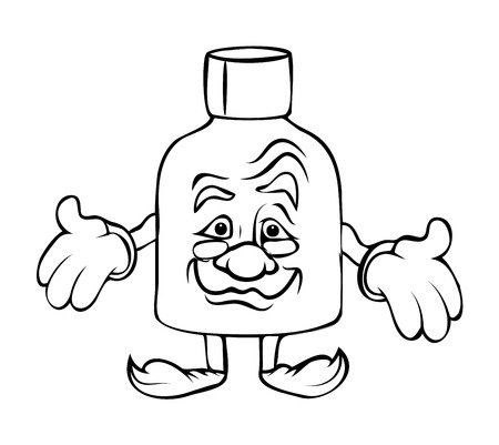 presenting: Presenting Cartoon Bottle Vector Clipart Illustration