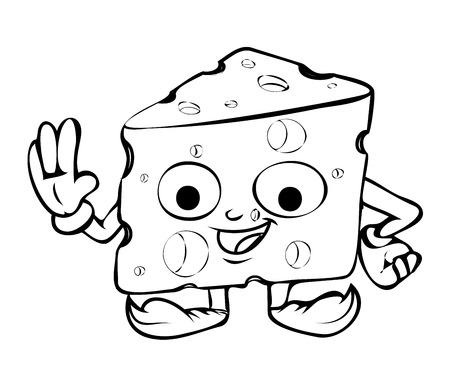 chunk: Cute Happy Cartoon Cheese Vector Clipart