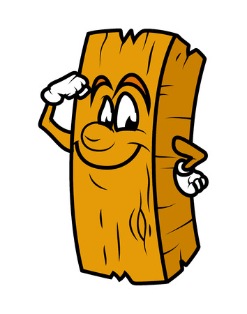 wood log: Powerful Cartoon Wood Log Vector