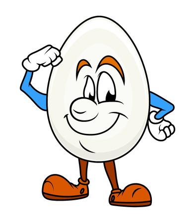 cartoon egg: Healthy - Cartoon Egg Character
