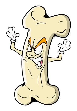 femur: Angry Cartoon Bone