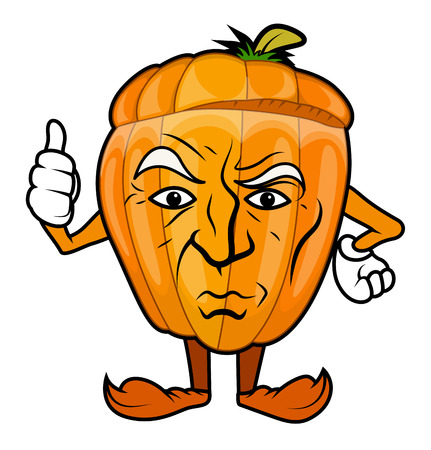 unwanted: Unwanted Motivation - Cartoon Pumpkin Character