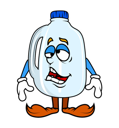 frustrated: Frustrated Cartoon Plastic Bottle Vector