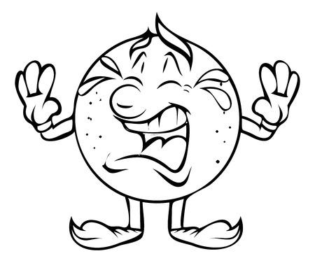 Schreien - Cartoon Vektor-Clipart Standard-Bild - 41991884