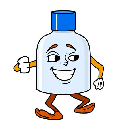 tanzen cartoon: Tanzen-Cartoon Flasche Vector Illustration