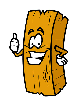 wood log: Cartoon Wood Log Showing Thumbs Up