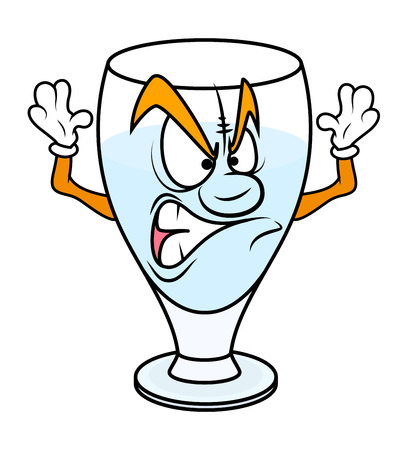 aggressive: Aggressive Cartoon Wine Glass Vector